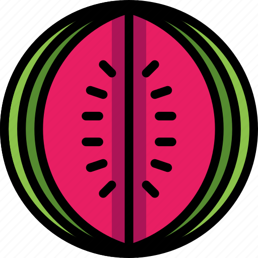 and, drink, food, fruit, melon, slice, watermelon icon