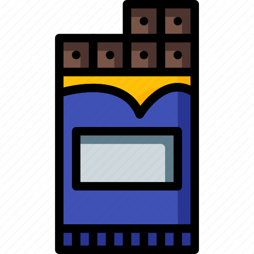 bar, chocolate, dessert, drink, food, pudding, snack icon
