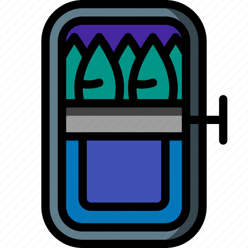 Anchovies, and, drink, fish, food, sardines, tin icon - Download on Iconfinder