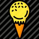 cone, cream, dessert, drink, food, ice, pudding icon
