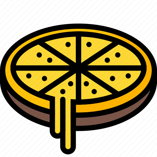 cheese, deep, drink, food, pan, pizza, takeaway icon
