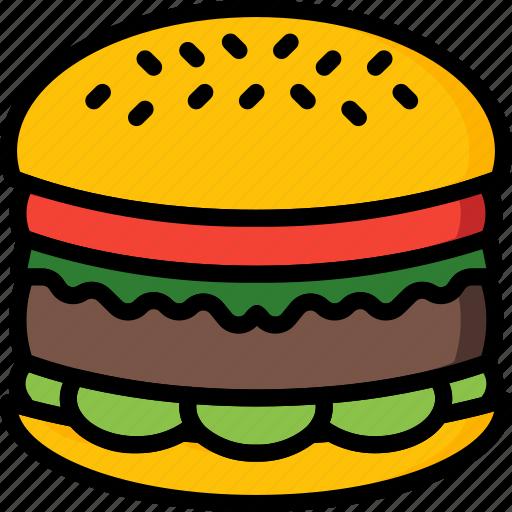 and, bun, burger, drink, food, pounder, quarter icon