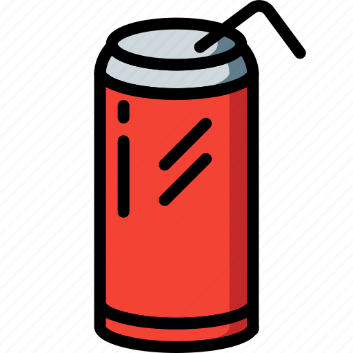 And, can, drink, food, pop, soda, straw icon - Download on Iconfinder