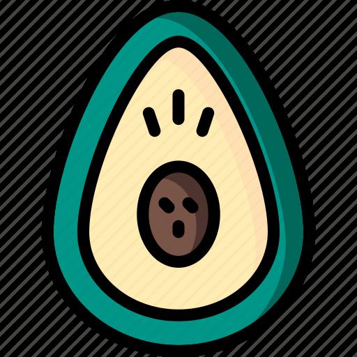 and, avocado, drink, food, fruit, veg icon