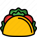 and, drink, food, mexican, sandwich, taco, wrap icon