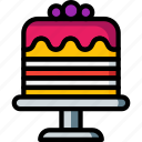 cake, dessert, drink, food, pudding, stand, wedding icon