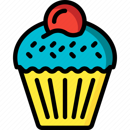 and, cake, cupcake, dessert, drink, food, pudding icon