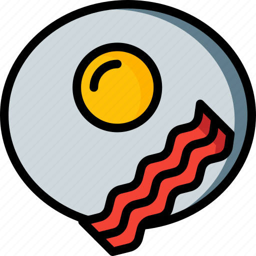 bacon, breakfast, drink, egg, food icon