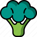and, broccoli, drink, food, veg, vegetable icon