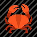 crab, drink, food icon