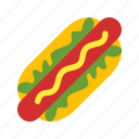 drink, food, hot dog icon