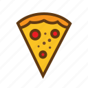 eat, food, meal, pizza, restaurant, snack icon