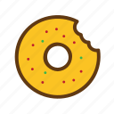 donut, fast food, food, meal, snack icon