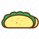 eat, fastfood, food, meal, snack, taco icon