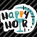 bar, café, cocktail, drink, happy hour, restaurant, sticker icon