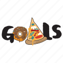 donut, fast, food, networking, pizza, restaurant, sticker icon