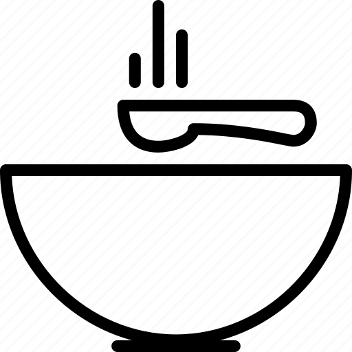 hot, soup, spoon icon