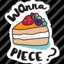 café, cake, drink, food, networking, restaurant, sticker icon