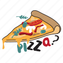 café, drink, food, networking, pizza, restaurant, sticker icon
