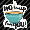 café, drink, food, networking, restaurant, soup, sticker icon