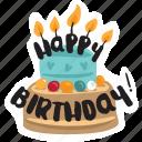 birthday, café, cake, food, networking, restaurant, sticker icon