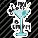 bar, café, cocktail, drink, networking, restaurant, sticker icon