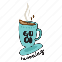 café, coffee, drink, food, networking, restaurant, sticker icon