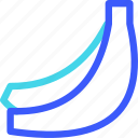 25px, banana, iconspace icon