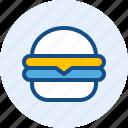 burger, drink, food