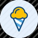 cone, cream, drink, food, ice