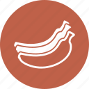 banana, fruit, yellow icon