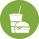 burger, burger and coke, coke, coke and burger icon