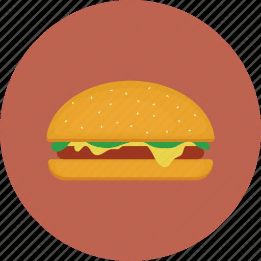 burger, cheeseburger, color, food icon