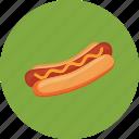 eat, fast, food, hotdog