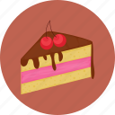 cake, chocolate, cream, dessert icon