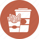 cock, fastfood, food, french, fries icon