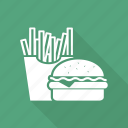 burger, french, french fries, fries, fries and burger icon