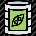 canned, peas, food, vegetable icon