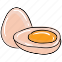 boiled egg, breakfast, egg, food, healthy diet icon