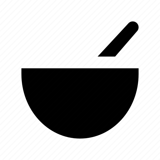 hot soup, meal, soup, soup bowl, spoon icon