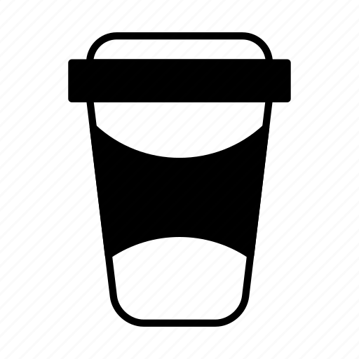 coffee, cup, paper, paper cup, plastic icon