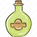 bottle, oil, oil bottle, olive oil, vegetable oil icon