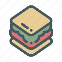 bread, food, sandwich icon