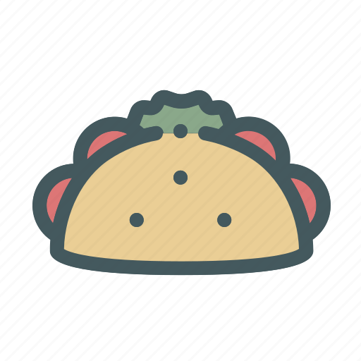 food, mexican, mexico, taco icon
