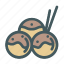 food, japanese, takoyaki icon