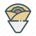 crepes, food, streetfood, wraped icon