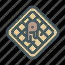 fast, food, sweet, waffle icon