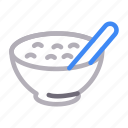 bowl, drink, eat, soup, spoon icon