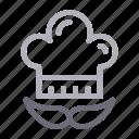 cap, chef, cook, hat, kitchen