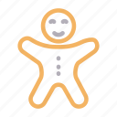bakery, biscuit, cookies, food, gingerbread icon